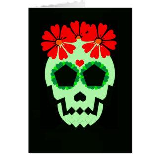 """Skull """"Feliz Día De Los Muertos!"""" Greeting Card"""