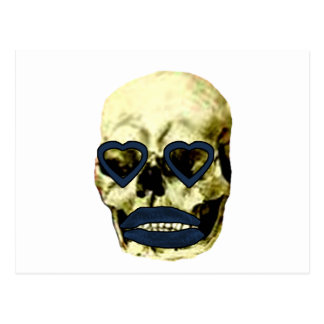 Skull Hearts Blue Kiss The MUSEUM Zazzle Gifts Post Card