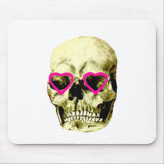 Skull Hearts Magenta The MUSEUM Zazzle Gifts Mouse Pad