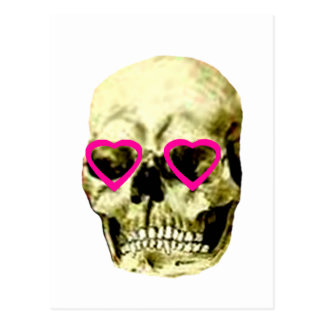 Skull Hearts Magenta The MUSEUM Zazzle Gifts Post Cards