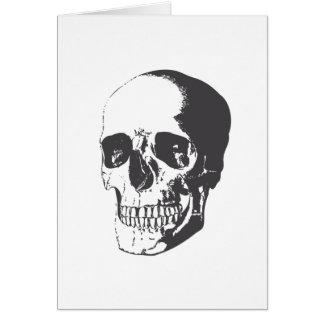 Skull illustration card