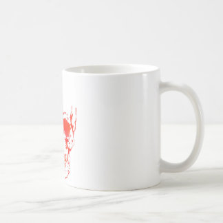 Skull in Red Coffee Mug