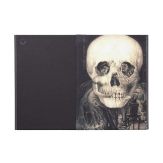 Skull Love Retro Optical Illusion iPad Mini Folio iPad Mini Cases
