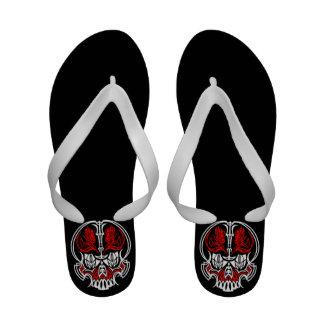 Skull Pinstriping Sandals