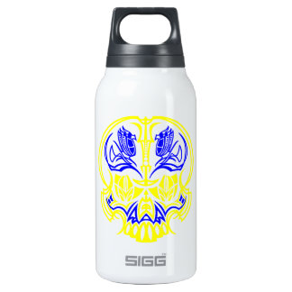 Skull Pinstriping Insulated Water Bottle