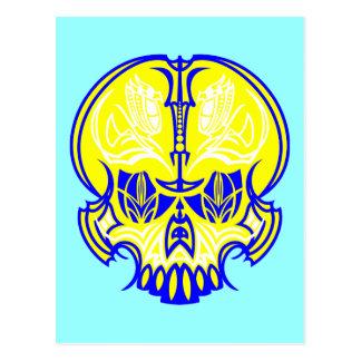 Skull Pinstriping Post Cards