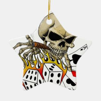 Skull Poker chart Christmas Ornament