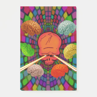 Skull Psychedelic Post-it Notes