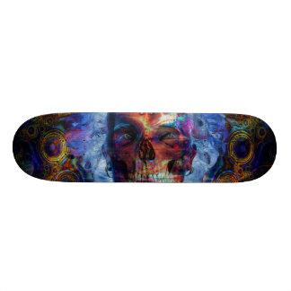 Skull psychodelicart skateboard