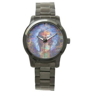 Skull psychodelicart wrist watch