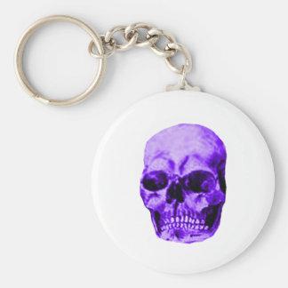 Skull Purple The MUSEUM Zazzle Gifts Key Chain