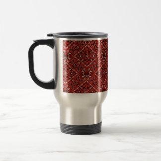 Skull Red Bandana Print Stainless Steel Travel Mug