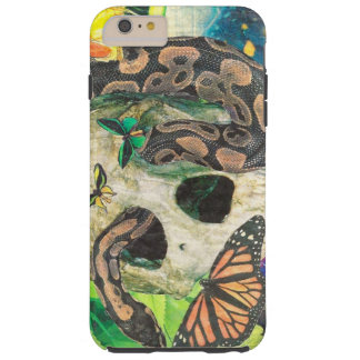 skull snake butterfly collage tough iPhone 6 plus case