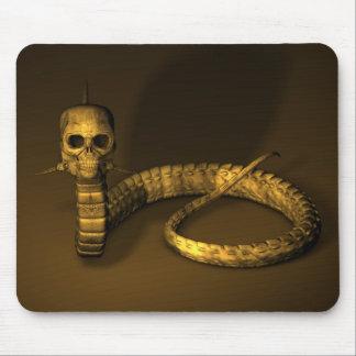 Skull Snake Mouse Pad
