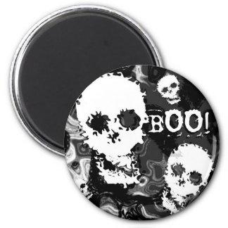 Skull Spectres B&W 'Boo!' fridge magnet