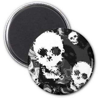 Skull Spectres B&W fridge magnet