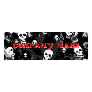 Skull Spectres B & W horizontal black skinny Pack Of Skinny Business Cards