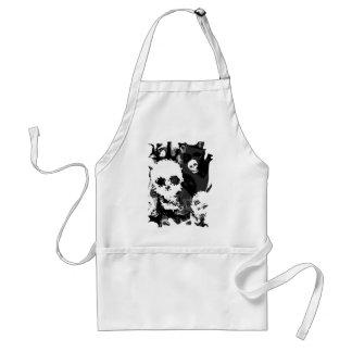 Skull Spectres B&W swirl apron