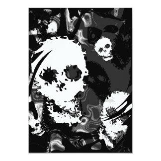 Skull Spectres B&W swirl invitation