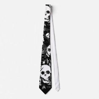 Skull Spectres B&W swirl tie