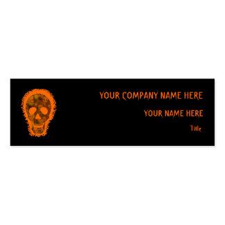 Skull Spectres Big Orange skinny orange Pack Of Skinny Business Cards