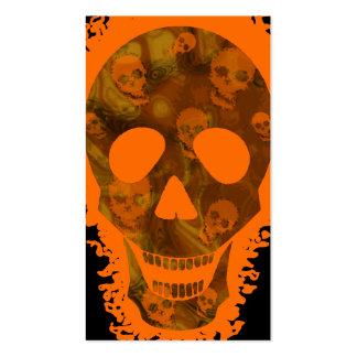 Skull Spectres Big Skull Orange vertical orange Pack Of Standard Business Cards