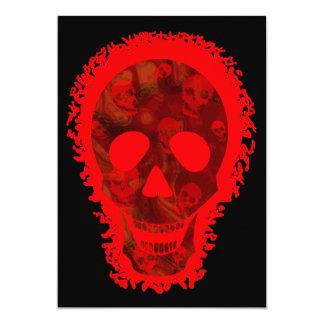Skull Spectres Big Skull Red invitation