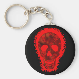 Skull Spectres Big Skull Red keychain