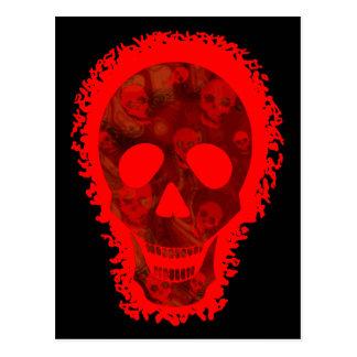 Skull Spectres Big Skull Red postcard