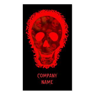 Skull Spectres Big Skull Red vertical red Pack Of Standard Business Cards