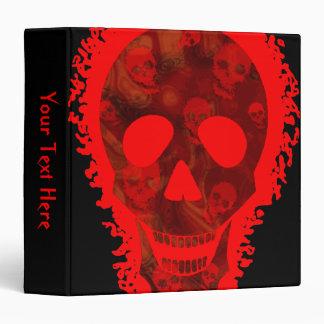 Skull Spectres Big Skull Red 'Your Text' binder