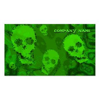 Skull Spectres business card horizontal green