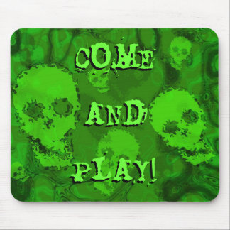 Skull Spectres 'Come and Play!' mousepad