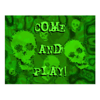 Skull Spectres 'Come and Play!' postcard