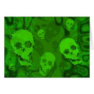 Skull Spectres greetings card