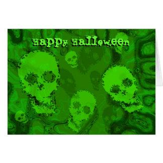 Skull Spectres 'Happy Halloween'  card