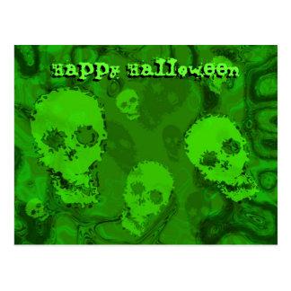Skull Spectres 'Happy Halloween' postcard