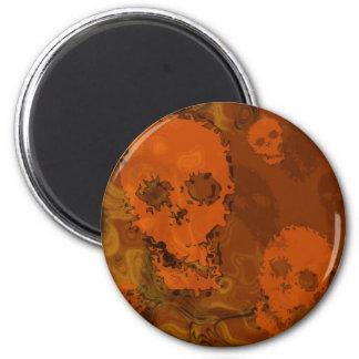 Skull Spectres Orange fridge magnet