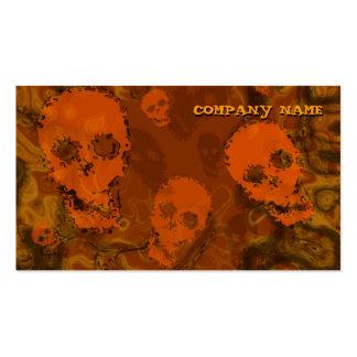 Skull Spectres Orange horizontal black Pack Of Standard Business Cards