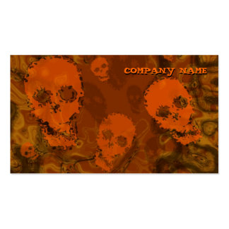 Skull Spectres Orange horizontal orange Pack Of Standard Business Cards