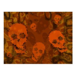 Skull Spectres Orange postcard
