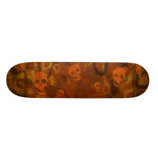 Skull Spectres Orange skateboard