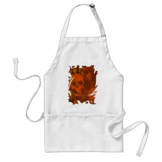 Skull Spectres Orange swirl apron