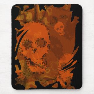 Skull Spectres Orange swirl mousepad
