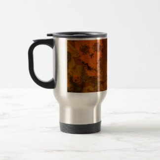 Skull Spectres Orange travel/commuter mug