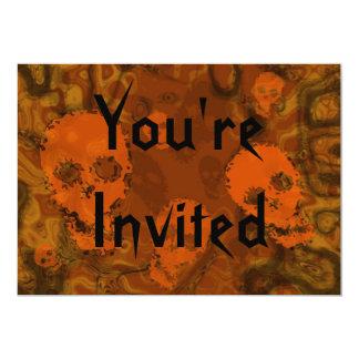 Skull Spectres Orange 'You're Invited' invitation