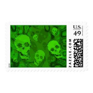 Skull Spectres postage stamp