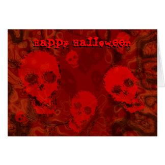 Skull Spectres Red 'Happy Halloween' card