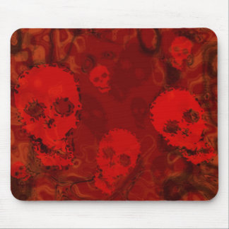 Skull Spectres Red mousepad