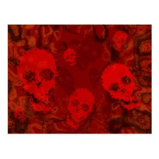 Skull Spectres Red postcard